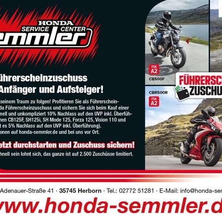 Honda Semmler - Führerschein Aktion endet 16. April 2021