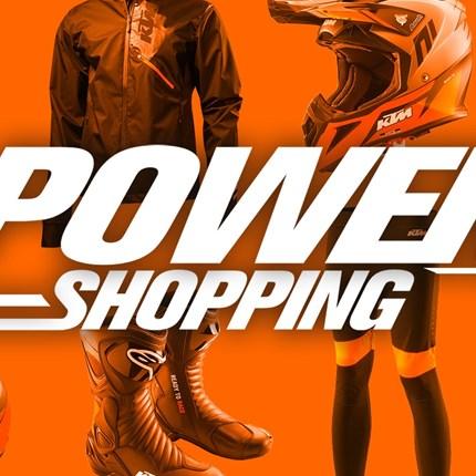 Powershopping zum Saisonstart  KTM POWERSHOPPING Feiere mit uns den Saisonstart mit unwiderstehlichen KTM POWERSHOPPING-Angeboten! Sichere dir starke Rabatte ... Weiter >>