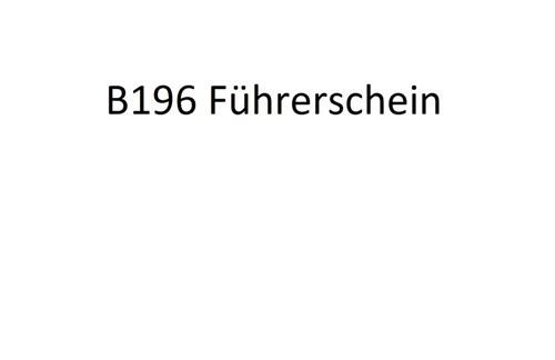 B196 - der neue 125er Führerschein