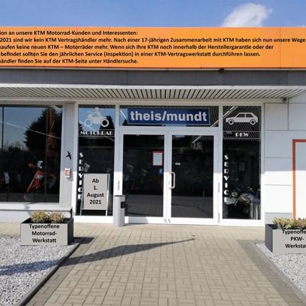 Neu ab 1. August 2021  Wichtige Information an unsere KTM Motorrad-Kunden und Interessenten: Ab dem 1. August 2021 sind wir kein KTM ... Weiter >>