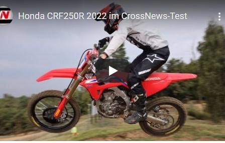 Video: Test der neuen Honda CRF250R 2022 von Crossnews