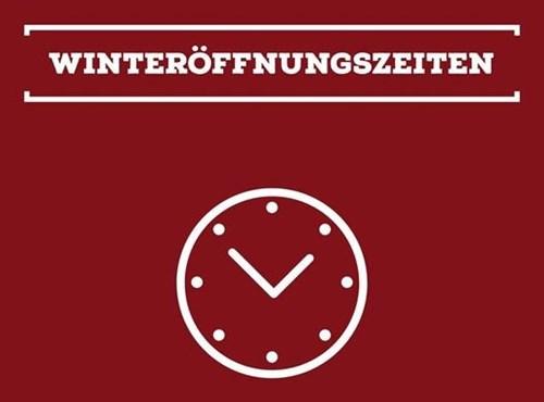 Winteröffnungszeiten ab 01.10.2021