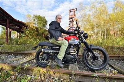 Fotoshooting der Motorrad Zeitung auf Zeche Zollverein