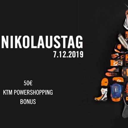 Einladung zum KTM Nikolaustag Auch heuer veranstalten wir wieder den traditionellen KTM Nikolaustag. Nutzen Sie die Gelegenheit Weihnachtsgeschenke zu ... Weiter >>