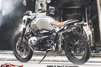 Bild zum Bericht: Akrapovic in schwarz für BMW R NineT Scrambler