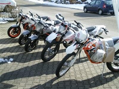 Erstanlieferung KTM-Bikes 2015