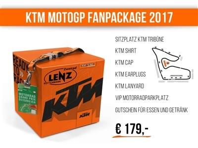 KTM MotoGP Fanpackage KTM FAN PACKAGE 2017 Die MotoGP ist 2017 wieder in Österreich – und das KTM-MotoGP-Team mit dabei! Vom11. bis 13. August ... Weiter >>