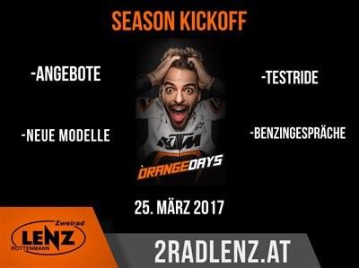 KTM Orange Day Die Motorradsaison steht endlich in den Startlöchern! Deshalb gibt es auch dieses Jahr, am 25.3.2017, wieder den KTM Orange ... Weiter >>