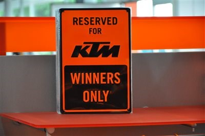 RESERVED FOR KTM - WINNERS ONLY ????  RESERVED FOR KTM - WINNERS ONLY ????