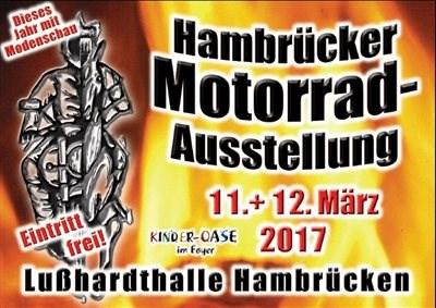 Hambrücker Motorradausstellung 2017 Finden Sie uns auch 2017 in Hambrücken auf der Motorradausstellung.Seien Sie gespannt auf die neue Honda Fireblade 2017 die wir vo... Weiter >>