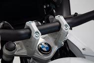 SW-MOTECH Lenkererhöhung. H=40 mm. Silbern. R1200GS (12-), R1250GS (18-).