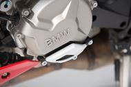 SW-MOTECH Motorgehäusedeckel-Schutz. Schwarz/Silbern. BMW S1000R / RR / XR.
