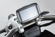 SW-MOTECH Navi-Halter am Lenker. Schwarz. Ducati XDiavel/S (16-).