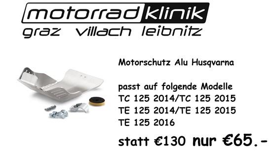 Husqvarna Motorschutz ALU Husqvarna statt €130.- nur €65 .- TC 125 2014/TC 125 2015/TE 125 2014/TE 125 2015/TE 125 2016