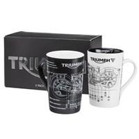 Triumph 2PK Shape Mug Set MMUA16322