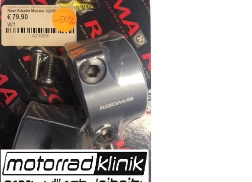 Lenkeradapter AZ400 für konifizierte Lenker 28/29mm auf normale Gabelbrücke silber Monster 620/800/1000 statt €80 nur €40