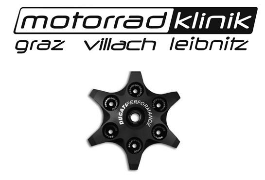 Ducati Kupplungsdruckplatte von Ducati Performance in Sternoptik schwarz passend für alle Trockenkupplungen statt € 166 nur€ 83