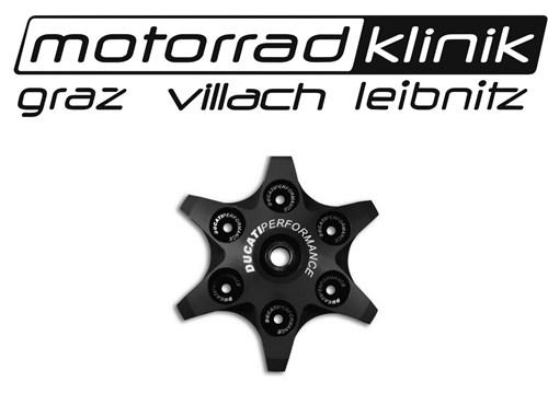 Kupplungsdruckplatte von Ducati Performance in Sternoptik schwarz passend für alle Trockenkupplungen statt € 166 nur€ 83