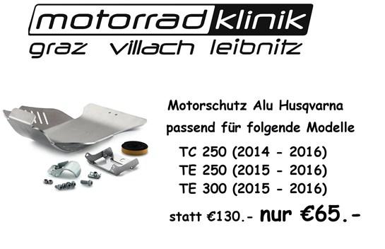 Husqvarna Motorschutz Alu statt €130.- nur €65.- passend für folgende Modelle  TC 250 (2014 - 2016) TE 250 (2015 - 2016) Husqvarna TE 300 (2015 - 2016)