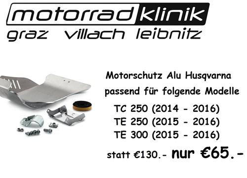 Motorschutz Alu statt €130.- nur €65.- passend für folgende Modelle TC 250 (2014 - 2016) TE 250 (2015 - 2016) Husqvarna TE 300 (2015 - 2016)