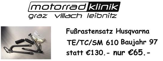 Husqvarna Fussrastensatz TE/TC/SM 610 Baujahr 97 statt €130.- nur €65.-