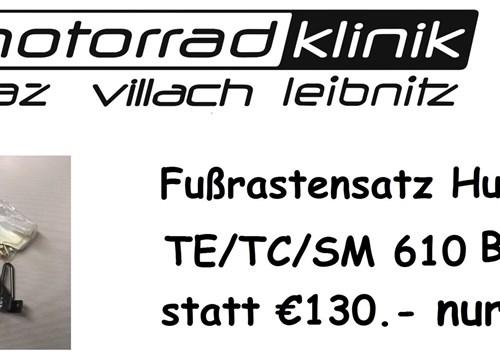 Fussrastensatz TE/TC/SM 610 Baujahr 97 statt €130.- nur €65.-