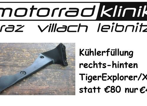 Kühlerfüllung rechts hinten Tiger Explorer /XC statt €80 nur €40