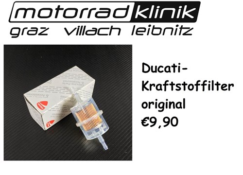 KRAFTSTOFFFILTER original €9,90 Monster / Supersport...