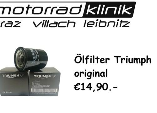 ÖLFILTER original €14,90 Tiger/Bonneville/Thruxton/Street Twin / Street Triple/ Rocket/Speed Twin...