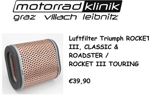 LUFTFILTER ROCKET III, CLASSIC & ROADSTER /ROCKET III TOURING €39,90