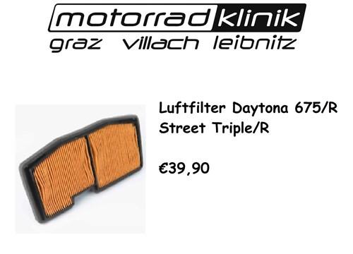 LUFTFILTER DAYTONA 675/R /STREET TRIPLE/R €39,90