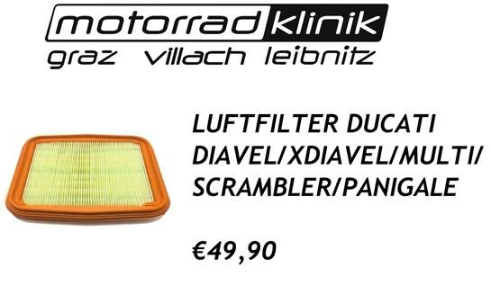 Ducati LUFTFILTER DIAVEL/X-DIAVEL/MULTI/SCRAMBLER/PANIGALE €49,90