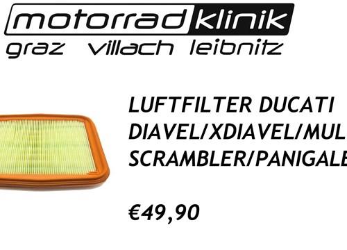 LUFTFILTER DIAVEL/X-DIAVEL/MULTI/SCRAMBLER/PANIGALE €49,90