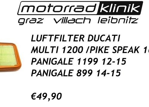 LUFTFILTER MULTI 1200 /PIKE SPEAK 16-20/PANIGALE 1199 12-15/PANIGALE 899 14-15 49,90