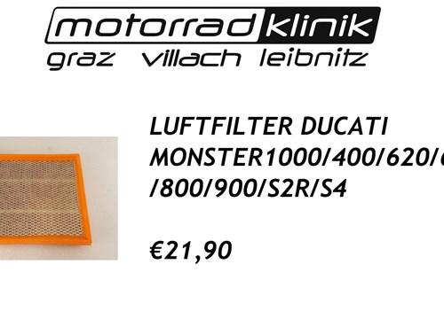LUFTFILTER MONSTER 1000/400/620/695/750/800/900/S2R/S4 €21,90