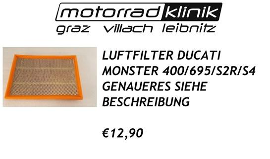 Ducati LUFTFILTER MONSTER 400/695/S2R/S4 €12,90 GENAUERES SIEHE BESCHREIBUNG
