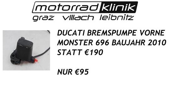 Ducati BREMSPUMPE VORNE MONSTER 696 BAUJAHR 2010 STATT €190 NUR €95