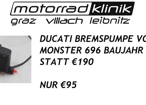 BREMSPUMPE VORNE MONSTER 696 BAUJAHR 2010 STATT €190 NUR €95