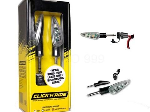 Click'n'Ride LED Blinkerpaar mit Schnellverschluss