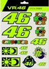 VR46 Stickers small Set multic