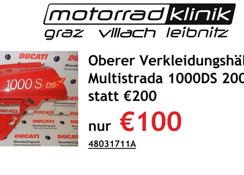 Oberer Verkleidungshälfte rot Multistrada 1000DS statt €200 nur €100