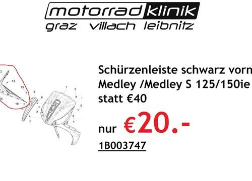 Schürzenleiste schwarz vorne rechts Medley /Medley S 125/150ie E4 (2016-) statt € 40 nur €20.-