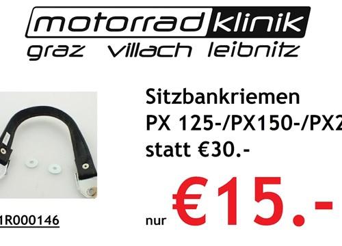 Sitzbankriemen PX 125-/PX150-/PX200- statt €30 nur €15.-