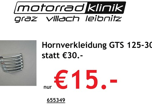 Hornverkleidung GTS 125-300 statt € 30 nur €15