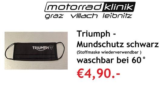 Triumph Mundschutz Triumph schwarz (Stoffmaske wiederverwendbar) bei 60° waschbar für nur €4,90.-