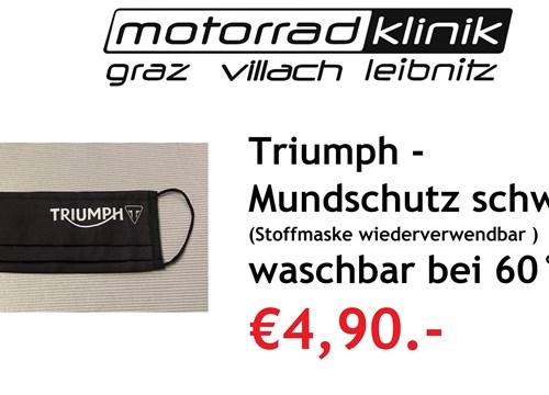 Mundschutz Triumph schwarz (Stoffmaske wiederverwendbar) bei 60° waschbar für nur €4,90.-