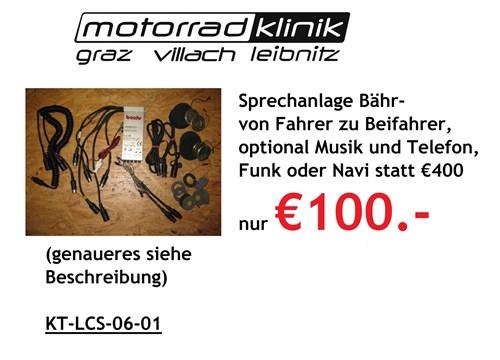 Sprechanlage Bähr von Fahrer zu Beifahrer, optional Musik und Telefon, Funk oder Navi statt €400 nur €100.- genaueres siehe Beschreibung