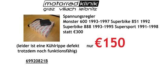 Ducati Regler Monster 600 1993-1997 Superbike 851 1992 Superbike 888 1993-1995 Supersport 1991-1998 leider ist eine Kühlrippe defekt trotzdem noch funktionsfähig statt €300 nur €150
