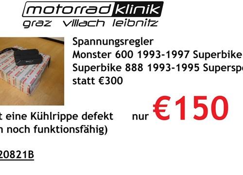Regler Monster 600 1993-1997 Superbike 851 1992 Superbike 888 1993-1995 Supersport 1991-1998 leider ist eine Kühlrippe defekt trotzdem noch funktionsfähig statt €300 nur €150
