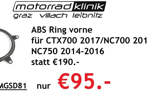 ABS Ring vorne für CTX700 2017/NC700 2012-2014 /NC750 2014-2016 statt €190.- nur €95.-